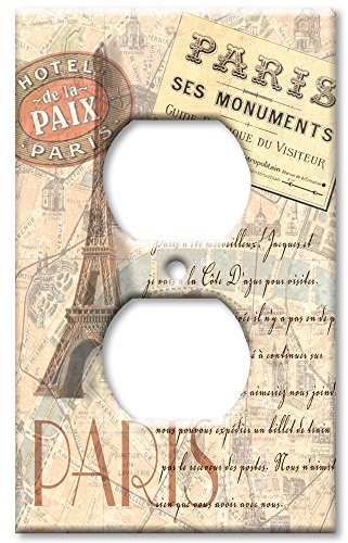 [Art Plates - Outlet Cover OVERSIZE Switch Plate - Paris] (Oversize Light Switchplates)