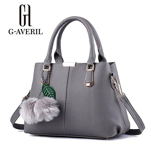 G-AVERIL, Borsa a mano donna Grigio Grey