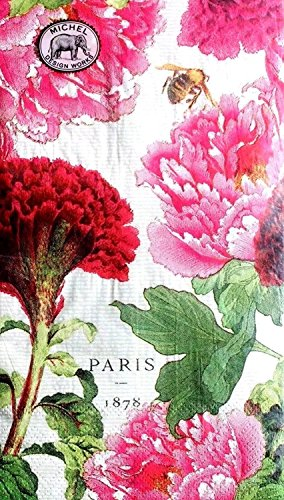 Michel Design Works Set of 15 Guest Hostess Buffet Paper Napkins ~ Peony Celosia