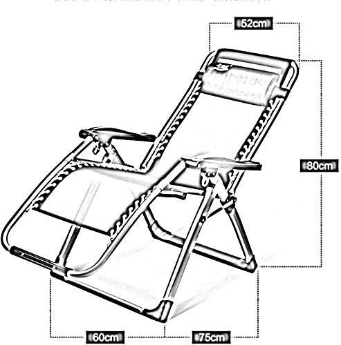WXF Sedie da Campeggio Chaise Chair Sedia Pieghevole Multifunzionale Siesta Bed Chair Lunch Break Chair Home Leisure Poltroncina da Spiaggia (Color : C)