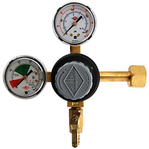 [Premium Double Gauge CO2 Regulator - Polycarbonate Bonnet by Taprite] (Premium Double Gauge Co2 Regulator)