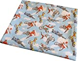 Motorbike Fabric Polycotton Fat Quarter, for Crafts, Patchwork, Quilting and More