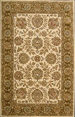 Nourison Jaipur Ivory Brown Area Rug IVORY BROWN 5'6 X 8'6
