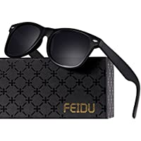 ab4bb6dd45 FEIDU Polarized Classic Retro Wayfarer Retro Sunglasses for Men Unisex FD  2149