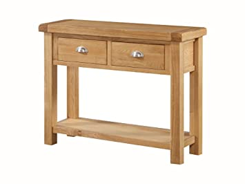 sports shoes f8e70 16a61 Newport Solid Oak Large Console Table for Hallway - Oak Hall ...