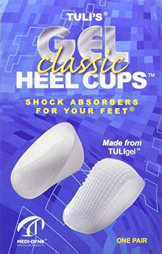 TuliGEL Classic Heel Cups - Comfortable Heel Cushioning - Large (Over 175lbs)