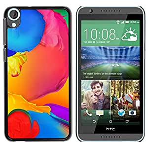 Be Good Phone Accessory // Dura Cáscara cubierta Protectora Caso Carcasa Funda de Protección para HTC Desire 820 // Paint Colorful Blue Liquid Yellow Purple