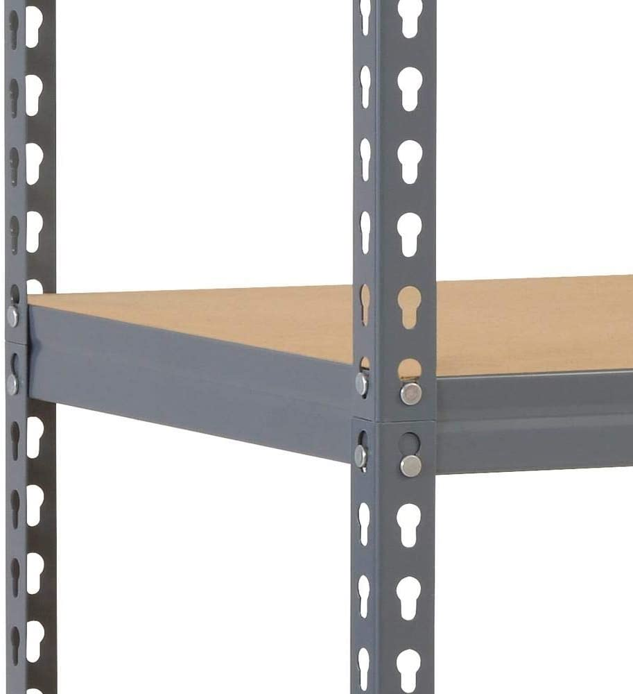 1500 mm H x 750 mm /Étag/ère dangle en acier gris avec 2 /étag/ères de rangement 625 mm l x 300 mm P