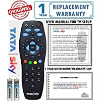 Tata Sky 100% Original Universal Remote (Directly From The Manufacturer) With 1 Year Warranty (Also Works with all TV) ** CHECK IMAGES & DESCRIPTION BEFORE PURCHASE**