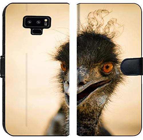 Samsung Galaxy Note 9 Flip Fabric Wallet Case Image ID 36195675 Portrait of a Smiling Ostrich