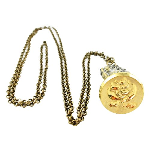 UNIQOOO Vintage French Rose Pendant Wearable Jewelry Necklace Sealing Wax Stamp