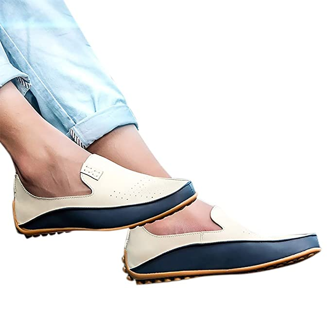 5a9ade9374a BSGSH Mens Casual Driving Penny Loafers Moccasins Slip On Casual Dress  Walking Boat Shoes (5.5