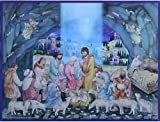 Religious Nativity Cave Scene German Advent Calendar (approx 10.5 x 14-inches) (70102)