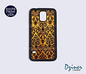 Galaxy S4 Case - Yellow Damask Pattern