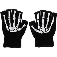 Hardli Cycling Gloves Kids Outdoor Sports Bicycle Half Finger Gloves Skeleton Soft Protective Mitten Boys Girls Children