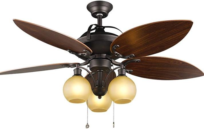 HSF Decoración del jardín Ventilador de Techo luz Retro Ventilador eléctrico luz Sala de Estar Restaurante Ventilador luz país araña esférica Ventiladores de Techo con lámpara: Amazon.es: Hogar