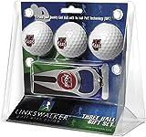 LinksWalker NCAA Massachusetts Minutemen - 3 Ball Gift Pack with Hat Trick Divot Tool