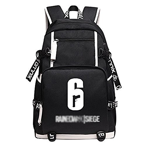 Rainbow Six Siege Backpack Bag Cosplay School Black Oxford Cloth Bag Cosplayrim