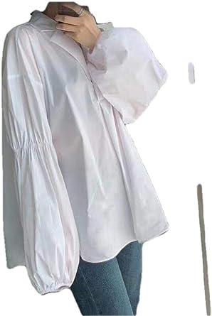 Blusas Y Camisas para Mujer Camisa Blanca Burbuja Manga @Blanco_M: Amazon.es: Ropa y accesorios
