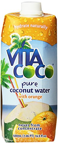 Vita Coco Coconut Water, Orange, 16.9 Ounce (Pack of 12)