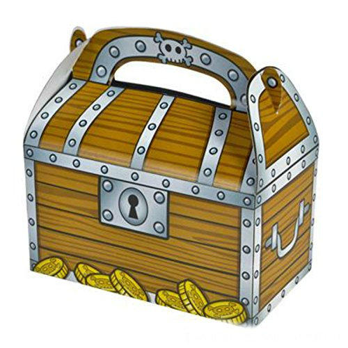 Party Favor Treasure Chest Treat Boxes (Pack of 12) - Play Kreative TM (Treasure Chest)