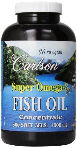 Carlson super laboratoires Omega-3 Gems, 1000mg, 300 gélules