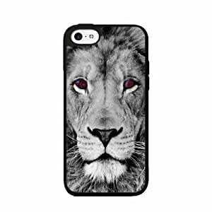 Lion With Nebula Eyes Have a Friend pc pc SILICONE Phone Case Back Cover iPhone 5c