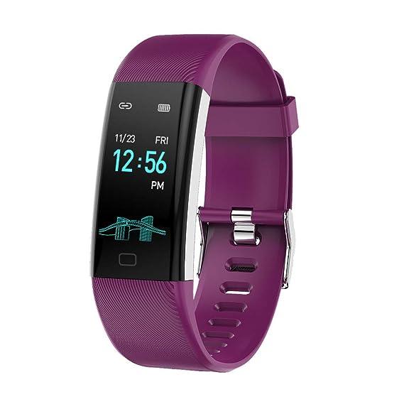 CAOQAO- Reloj Mujer Hombre Unisex Fitness Monitor de Actividad Delgado Ritmo cardíaco presión Arterial Control de oxígeno Reloj Inteligente