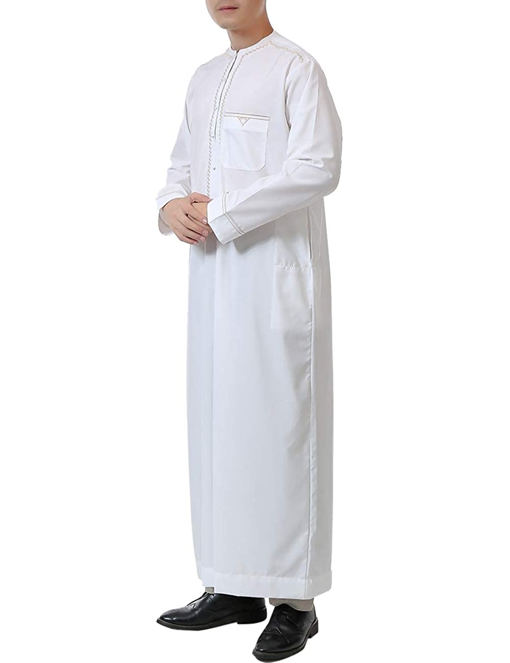 Zhhlinyuan islámica Abaya Manga Larga musulmán saudí árabe ...