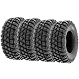 Set of 4 SunF A047 XC MX Hardpack UTV SxS Dual Sport Tires 30x10-15, 8 PR, Tubeless, all terrain off-road