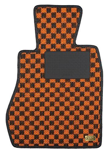 KARO(カロ) フロアマット SISAL オレンジ/ブラック MCC smart スマートクーペ 1406(一台分) B00NUTNOO2 SISAL×オレンジ/ブラック SISAL×オレンジ/ブラック