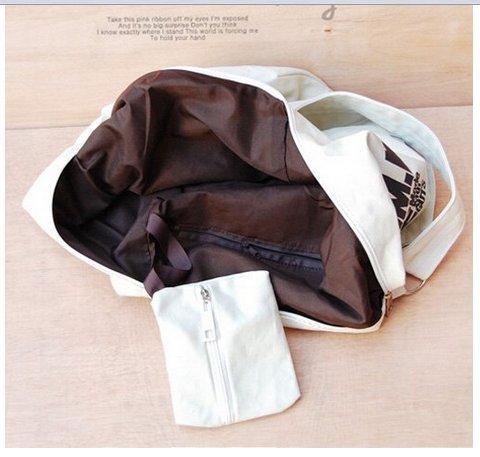 Letter Bag Crossbody White Messenger Satchel Handbag Womens Casual Print Shoulder Weekend Hobo Canvas Z7EqH