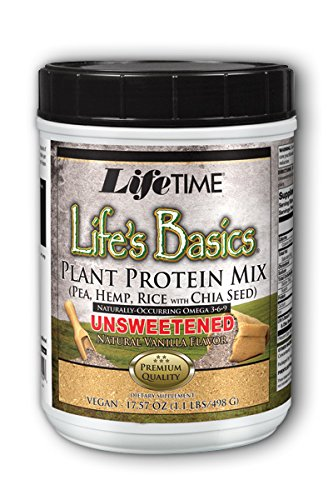 Lifetime Life's Basics Plant Protein Unsweetened, Natural Vanilla, 1.1 LB
