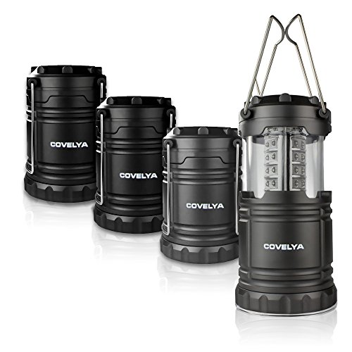 LED Camping Lantern Battery Operated,Bright LED Lantern Flashlights Portable Collapsible Flashlights For Hurricane,Storm,Power Outage,Emergency(4 (Powered Inside Lift)