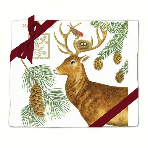 Holiday Deer Flour Sack Towel Set of 2