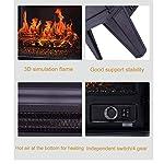 LXDDP-Camino-Elettrico-Stufa-elettrica-a-Parete-per-caminetto-con-Fiamma-realistica-riscaldatore-Elettrico-da-Interno-termostato-a-infrarossi-Portatile-Sistema-di-Sicurezza-Contro-Il-surriscaldamento