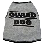 I See Spot's Dog Pet Cotton T-Shirt Tank, Guard Dog, XX-Small, Grey