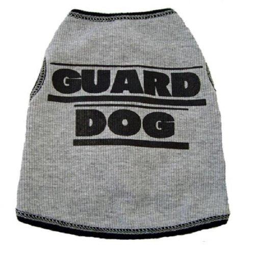 I See Spot's Dog Pet Cotton T-Shirt Tank, Guard Dog, XX-Small, Grey by I See Spot
