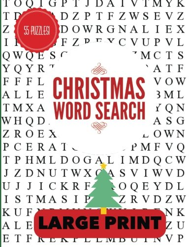 Christmas Word Search Large Print: Christmas Word Find, Christmas Puzzles, Large Print Word Search, Large Print Word Find -