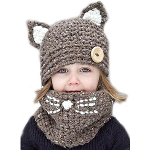 Sherrylily Toddler Cute Animal Crochet Knit Sweater Beanies Scarf Hat - Knit Hat Sweater