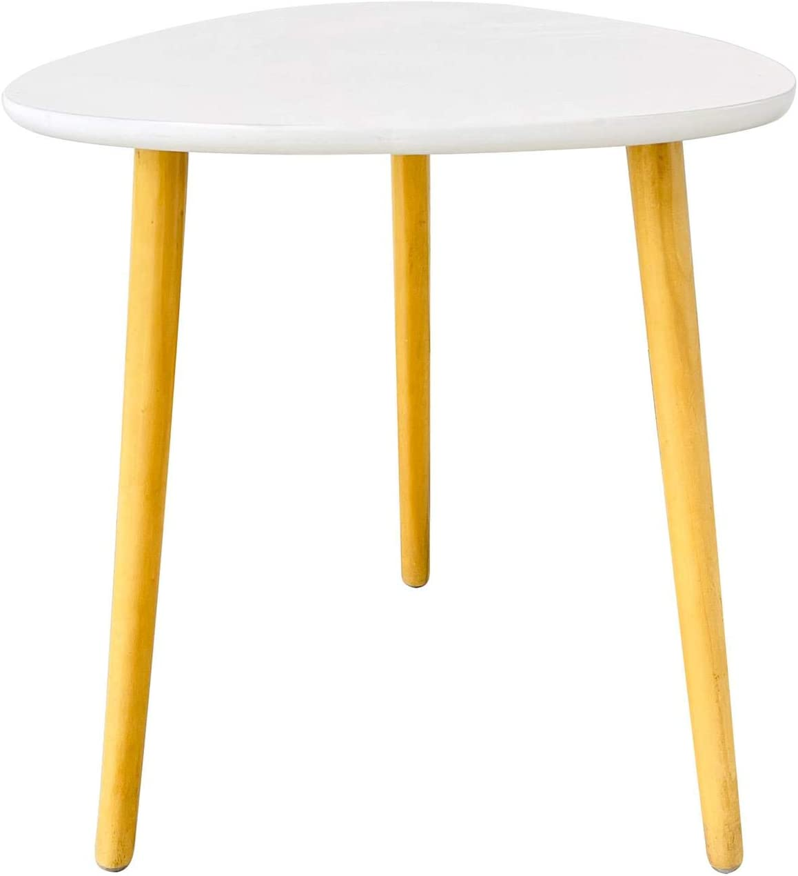Triangle Side Table End Table,Wooden,with Pine Tripod Wood Legs Stand,for Living Room Bedroom Office Small Spaces,15.7