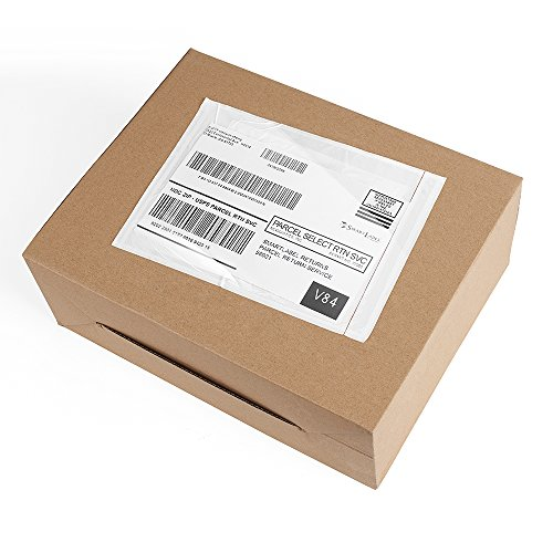 (Metronic 100pack 7.5 x 5.5 Clear Self-Adhesive Packing List Envelopes for Invoice, Shipping Label Envelopes)
