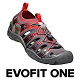 KEEN - Men's EVOFIT ONE Water Sandal for Outdoor Adventures, 10.5 M US, Magnet/Fiery Red