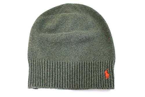 Mens Polo Ralph Lauren Beanie Green with Red Pony