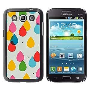 Be Good Phone Accessory // Dura Cáscara cubierta Protectora Caso Carcasa Funda de Protección para Samsung Galaxy Win I8550 I8552 Grand Quattro // Raindrops Kids Colors Pastel Polka D
