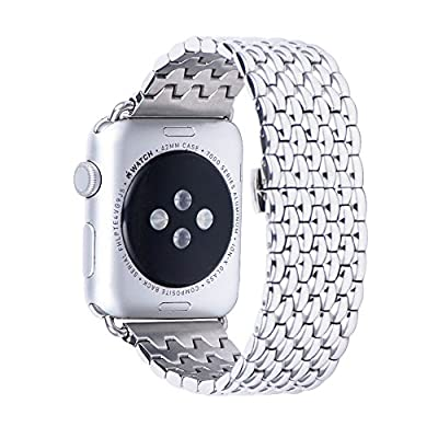 Apple Watch Band, ZoneYiLa® Stainless Steel Replacement Smart Watch Band Link Bracelet (Snakeskin 38mm)