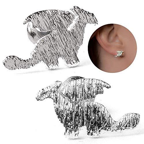 - Dragon Earrings for Women: Unique Stud Earring Set for Girls Women {Gift Ready Packaging} (Silver)