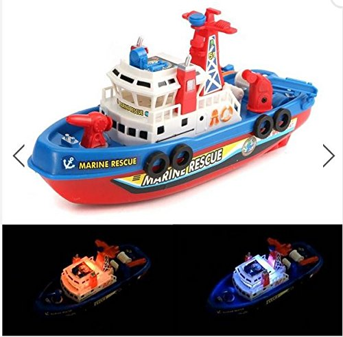 Fireboat Sound Flash Light Water Spray Ship Marine Rescue Fireboat Kids Children Toy By (Rescue Fireboat)