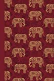 Journal: Elephant Pattern (Red) 6x9 - LINED JOURNAL - Writing journal with blank lined pages (Patterns & Designs Lined Journal Series)