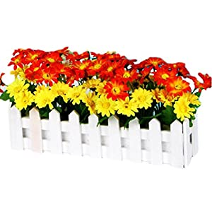 George Jimmy Artificial Flowers Arrangement Room Components Wood Fence Floral Decoration-B10 84